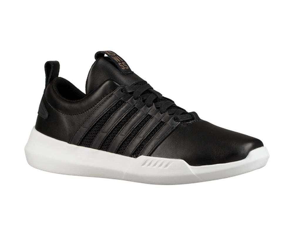 6c39abe95dc09 Kswiss Mens Gen-k Manifesto Black White Shoes Size 14
