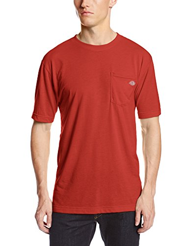 Dickies Men's Short Sleeve Performance Tee, English Red, X-Large