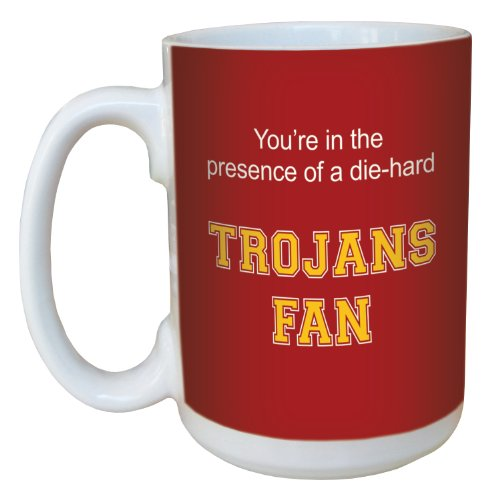 Tree-Free Greetings lm44592 Trojans College Football Fan Ceramic Mug with Full-Sized Handle, 15-Ounce (Mug Usc)
