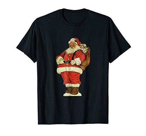 Vintage Christmas Illustration, Jolly Santa Claus T-Shirt