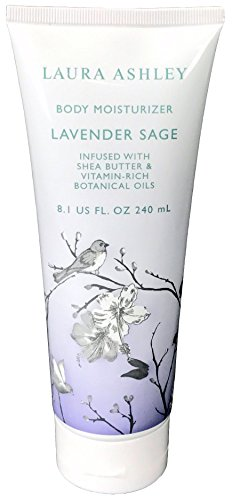 Laura Ashley Body Moisturizer Lotion Infused with Shea Butter and Vitamin Rich Botanical Oils (Lavender Sage)