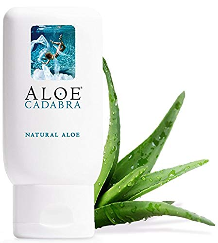 Aloe Cadabra Organic Personal Lubricant and Natural Vaginal Moisturizer with 95% Aloe Vera, Natural Aloe, 2.5 Ounce - Soothe Anal Lubricant