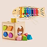 LS Toys - Building Blocks Toy Shape Matching Infant Baby Toys Early Education Educational Toys Enlightenment Toys Girls 1-2-3 Year Old Boy Toys (Color : F)