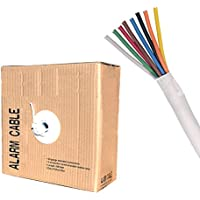 22/8 Solid 500FT Unshielded Low Voltage Security Alarm Wire Cable Fire Burglar Station Bulk PVC Pull-Out Box