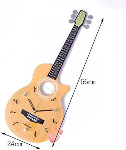 reloj de pared Guitarra Forma Habitación para niños Creativo Reloj de Cuarzo Decoración Dormitorio Silenciar Mesa Colgante Manualidades: Amazon.es: Hogar