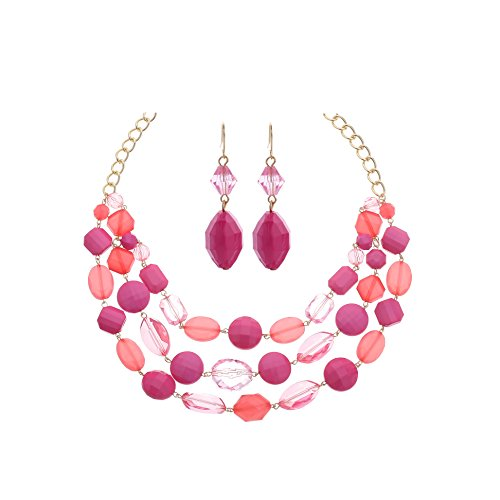(Youthway Jewel plastic beads short necklace and earring)