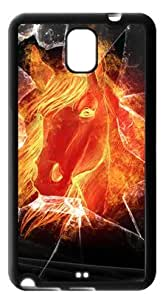 The Fire Horse Head With The Broken Glass Case Cover for Samsung Galaxy Note 3