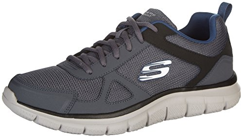 Grey Skechers Men's Navy Track Scloric Shoe OI4qxUwI7
