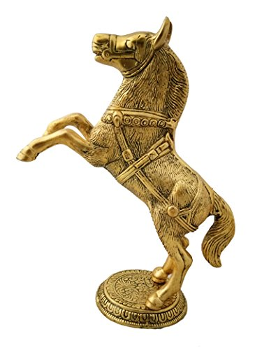 Artsy Art & Craft Handcrafted Decorative Metal Horse Statue for Wealth, Income, shining & bright future by Artsy Art & Craft