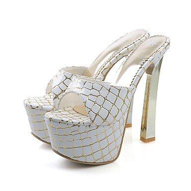 LvYuan Mujer-Tacón Stiletto-Confort Talón Descubierto-Sandalias-Vestido Fiesta y Noche-PU-Morado Plata Oro Gold