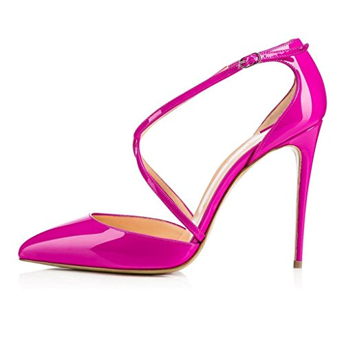 High Platform Dress Heel Womens Stiletto Toed RosePink Closed Pump AIWEIYi PqUIU