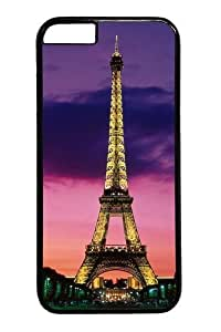 iPhone 6 Case,Eiffel Tower At Night Paris France PC Hard Plastic Case for iPhone 6 Black