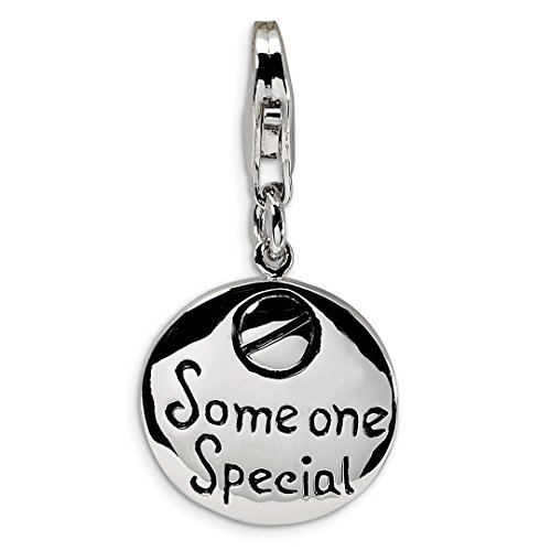 Yellow Scale 18th (925 Sterling Silver Rh Someone Special Inscribed Round Lobster Clasp Pendant Charm Necklace Person Fine Jewelry Gifts For Women For Her)