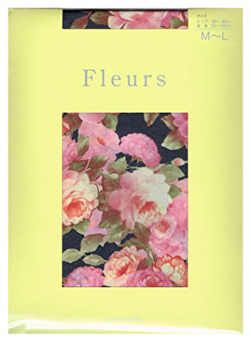 ドライブ重々しい十分です(フルール) fleurs 50Dプティカウンティス花柄タイツ(パンストタイプ)