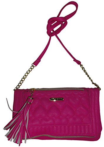 Boho-Chic Vacation & Fall Looks - Standard & Plus Size Styless - Betsey Johnson Be Mine Tassle Crossbody Fushia