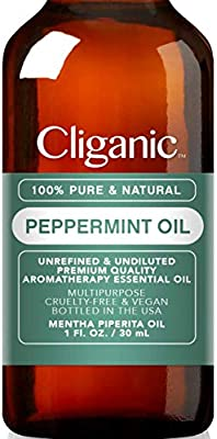 Cliganic 100 Pure Peppermint Essential Oil to Repel Mice Spiders 1oz  30ml  Perfect for Aromatherapy