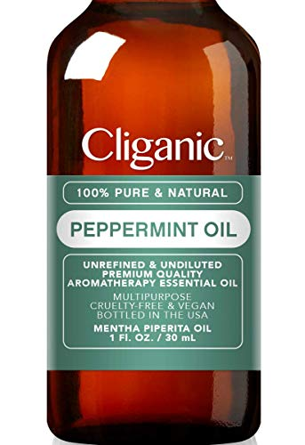 Cliganic 100% Pure Peppermint Essential Oil to Repel Mice Spiders (1oz / 30ml) | Perfect for Aromatherapy | Natural Mentha Piperita Plant | 100% Satisfaction Guarantee