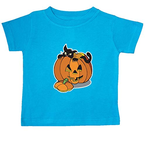 inktastic - Black Cat in Jack-o-Lantern Baby T-Shirt 24 Months Turquoise 2c87]()