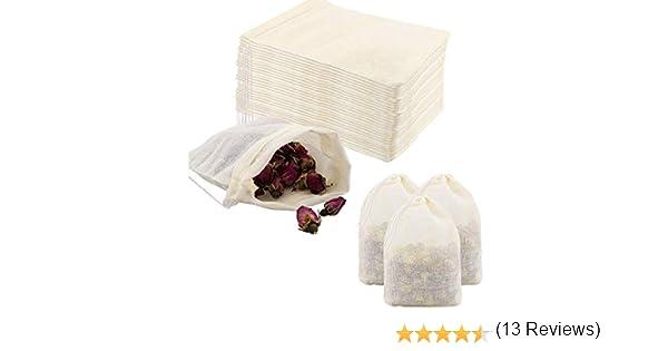 Bolsa de algodón, 60 piezas Bolsas de cordón de algodón pequeñas ...