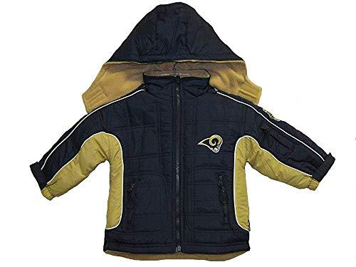 (St. Louis Rams NFL Toddler Navy / Gold Nylon / Fleece Reversible Jacket (Toddler 4T) )