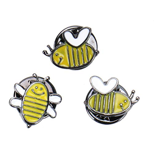elty Brooch Pin Pretty Cute bee Brooch Pins for Women Enamel-Liked Lapel Pins Set Badges for Unisex Clothes Bags Decor ()
