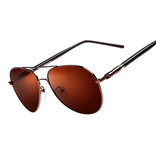 Mens High-End Polarized UV400 Aviator Sunglasses Driving Outdoor Sport Eyewear (brown, - Maroon Sunglasses