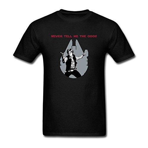 CNTJC Men's Han Solo Never Tell Me The Odde T Shirt L