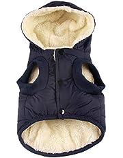 RC GearPro ubranko dla psa, zimowa kurtka z bawełnianą podszewką z kapturem dla kotów, szczeniąt, kurtka, kamizelka na zimną pogodę, dla małych, średnich, dużych, psów