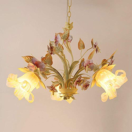 Oudan The American Landscape The Garden 3-Chief/6-Head Chandelier Lounge Creative Duplex Petal The Shadow of The Objects of Decoration Decoration Lighting Chandelier Lights (Size: 3-in-Head).