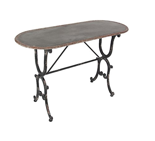 Deco 79 84255 Distressed Metal Console Table, Gray/Black by Deco 79