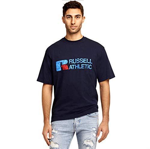 Profile Russell Athletics Men's Big & Tall Horizontal Graphics T-Shirt (Navy, 3XT)