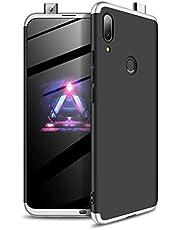 MISSDU reemplazo para Funda Huawei P Smart Z 2019/Y9 Prime 2019 Thin Fit 360 Carcasa Exact Slim de protección Completa+ Protector de Pantalla, Negro Plateado