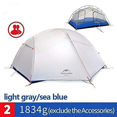 RT 1-2 Person White Waterproof Double Layer Ultralight Outdoor Tent: Garden & Outdoor