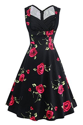 50s dresses hearts and roses - 1
