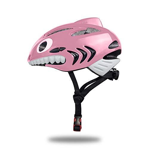 TechGo Kids Helmet 3D Shark Cartoon Kids Bike Helmets For Gi