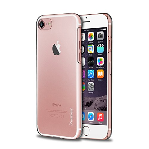 1 Stamp Inserts - iPhone 8 / 7 Case, Insten [Ultra-Thin] Crystal Snap-on Hard Cover Transparent Protective Case For iPhone 8 / 7 Case (4.7