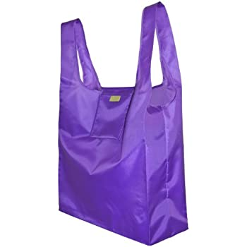Reusable Shopping Bag - Foldable Grocery Bag with Attached Pouch - Fabric Shopping Bag - Koteli Bag Dark Orchid