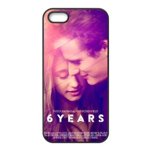 6 Years coque iPhone 5 5S cellulaire cas coque de téléphone cas téléphone cellulaire noir couvercle EOKXLLNCD21037