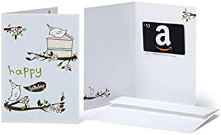 Amazon.com $10 Gift Card in a Greeting Card (Birthday Birds Design) (B01DCN95G6) | Amazon price tracker / tracking, Amazon price history charts, Amazon price watches, Amazon price drop alerts