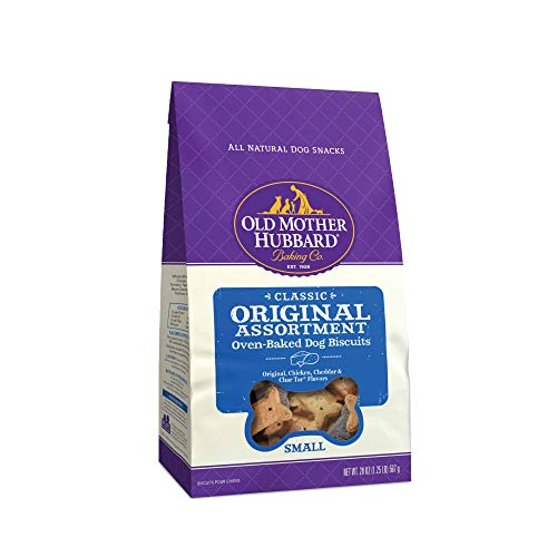 Old Mother Hubbard Classic Crunchy Natural Dog Treats, Original Assortment Small Biscuits, 20-Ounce Bag
