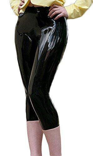 AvaCostume Women's Latex Knee Length Capri Leggings Pants...