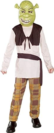 Sash Shirt with Vest Shrek The Third Boys Halloween Costume Mask Pants