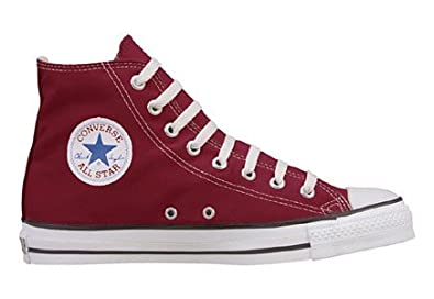 Converse Chuck Taylor All Star Hi Top Maroon Canvas Shoes with Extra Pair  of Black Laces