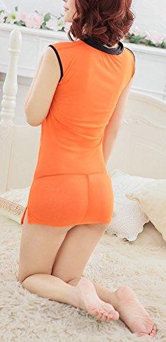 Paplan Negro Base Naranja borde escarpado del estilo del traje de Cheongsam gasa Naranja