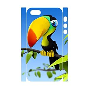 3D IPhone 5,5S Cases Beautiful Parrot, [White]