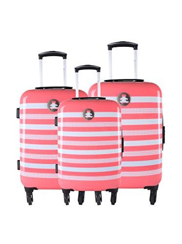 Lulu Castagnette Set de 3 trolleys Rigides Agp Corail