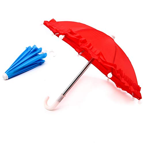 e44e191db1bd WSSROGY Pack of 5 Mini Colorful Nylon Umbrella for Kids Or Party Favors  Baby Shower Decoration,12...