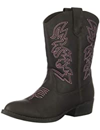 Kids' Ranch Pull on Western Cowboy Fashion Comfort Boot