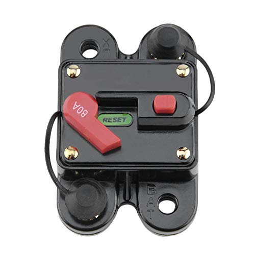 tyughjytu Car Audio Portafusible con el protector de alimentaci/Ã/³n Interruptor de alimentaci/Ã/³n Circuit Breaker