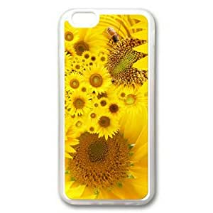 Armener iPhone 6 Plus (5.5 inch) Transparent Sides Rubber Shell TPU Case With Bright Sunflower-3